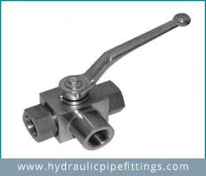 Hydraulic 3way ball valve Manufacturer in ankleshwar, Gujarat
